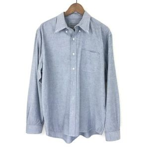 Eddie Bauer Grey Blue Long Sleeve Button Down Sz L